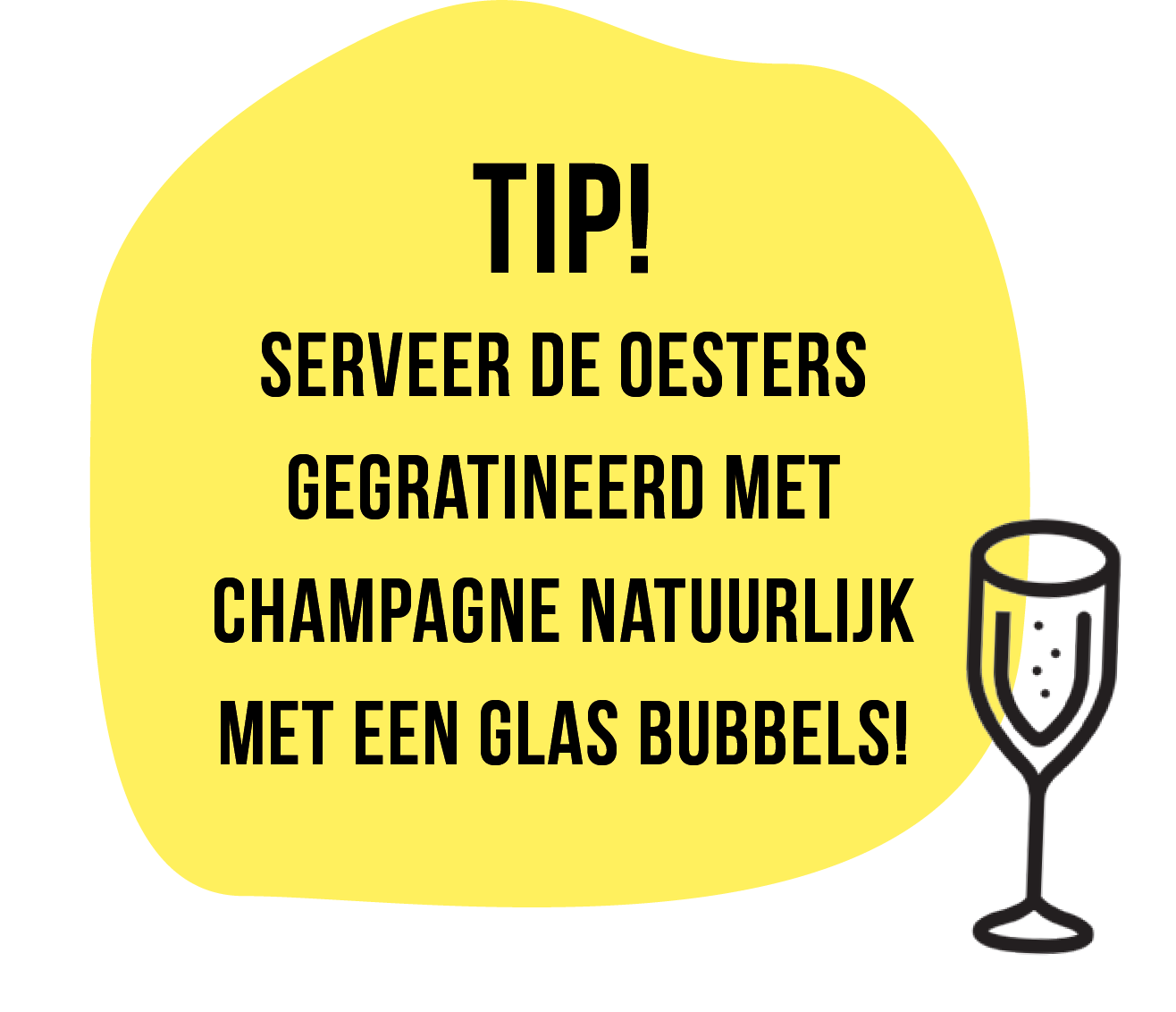 Oester tip champagne